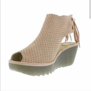 Fly London wedge leather sandals